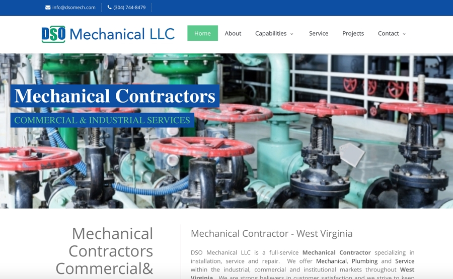 dso mechanical mechanical website design - West Website