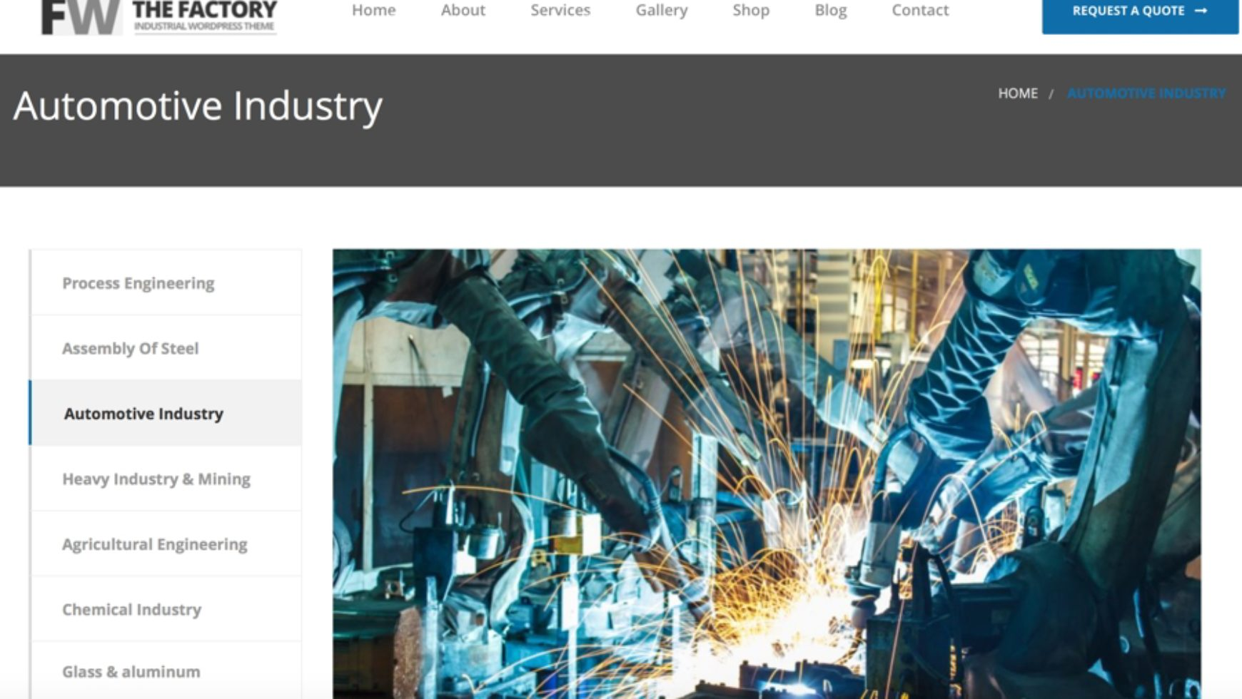 Automotive Industry Website Design