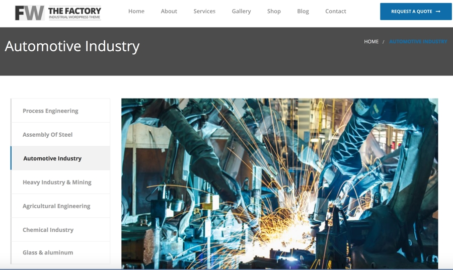 Automotive Manufacturing Website Design
