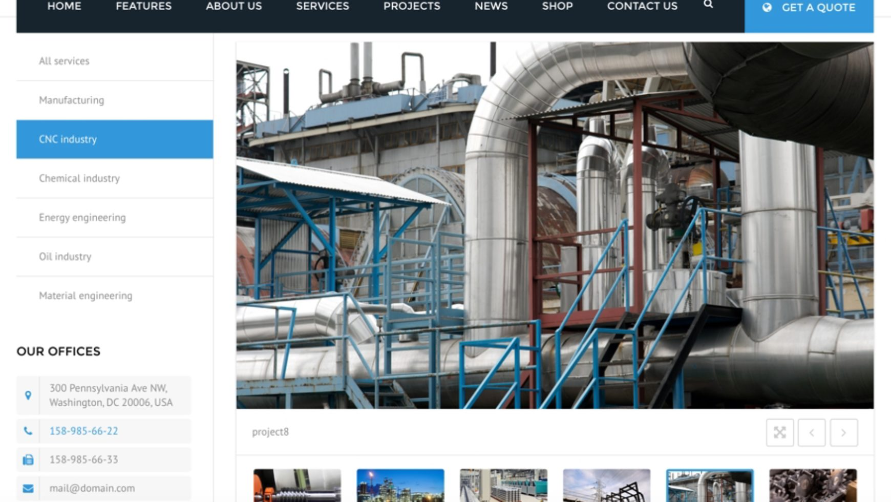 CNC Manufacturing Website Design