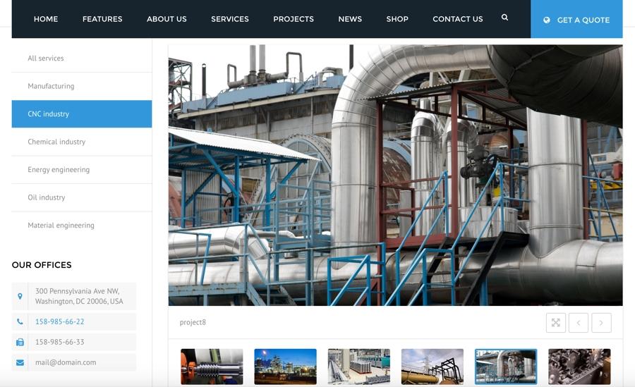 CNC Manufacturing Website Design