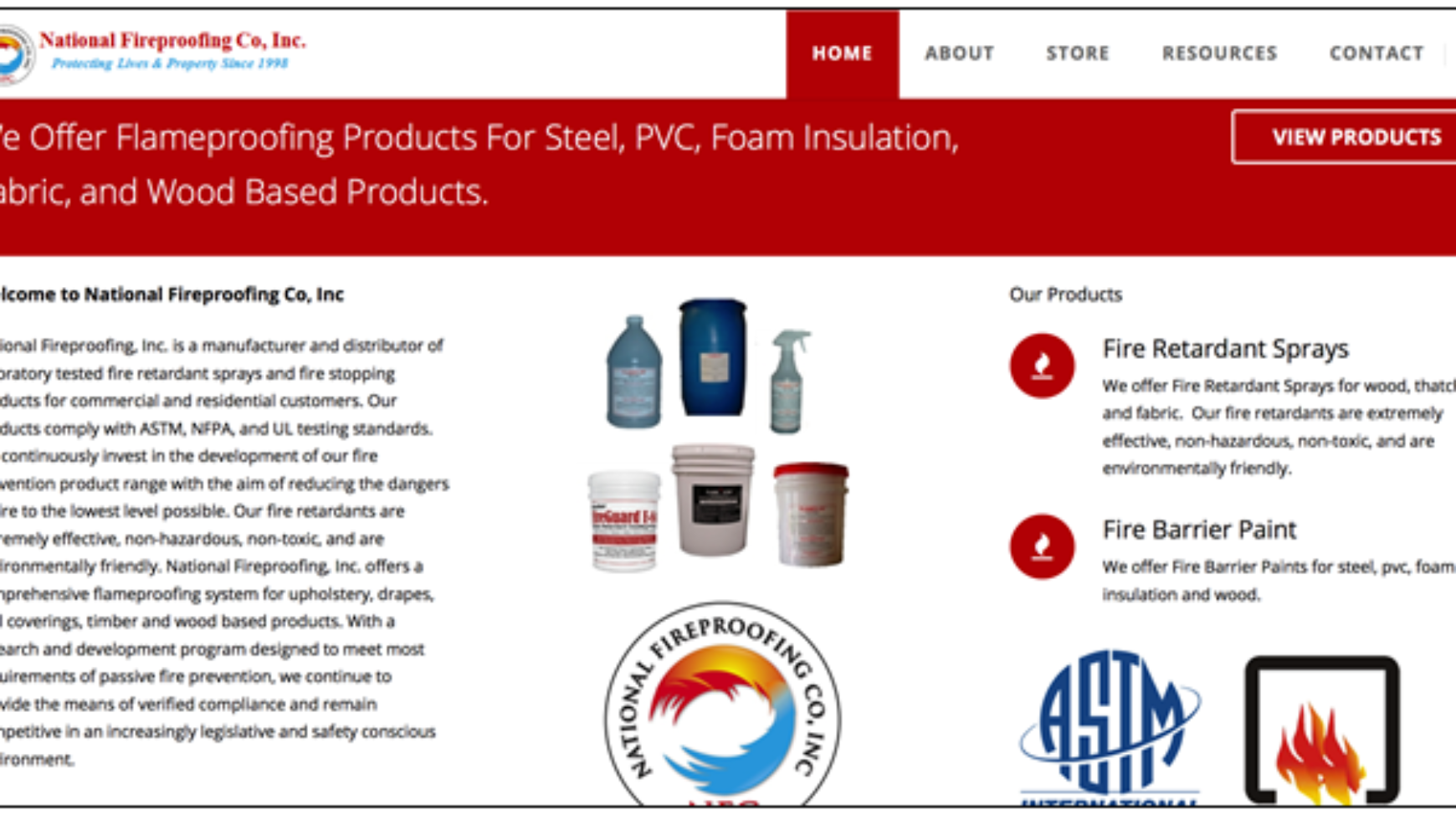 National Fireproofing – Fireproofing Website