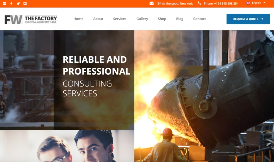 Industrial Website Design