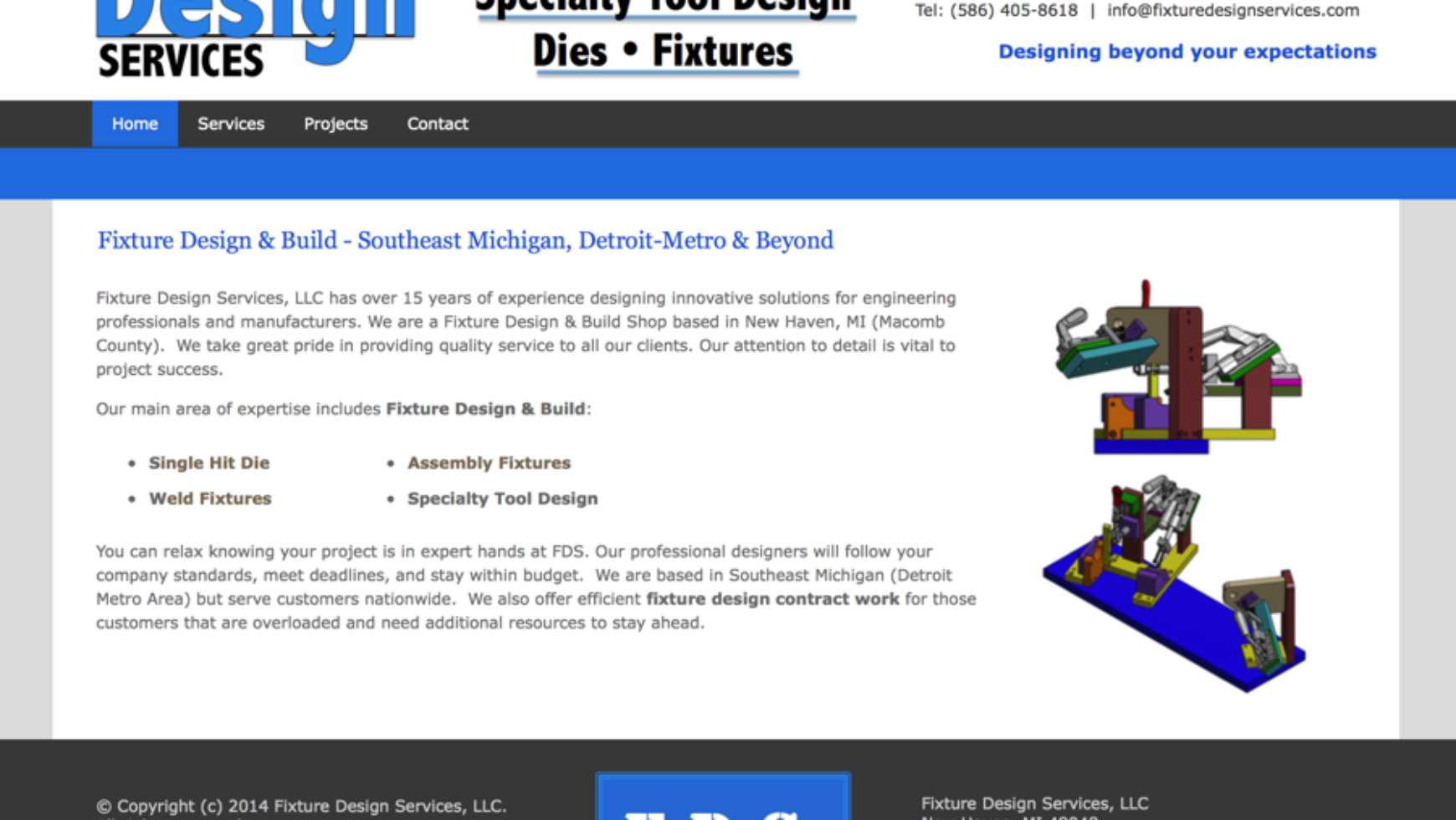 Fixture Design Services – Tool & Die Website