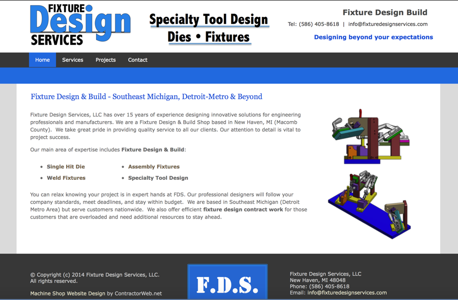 Machine Shop Website Design