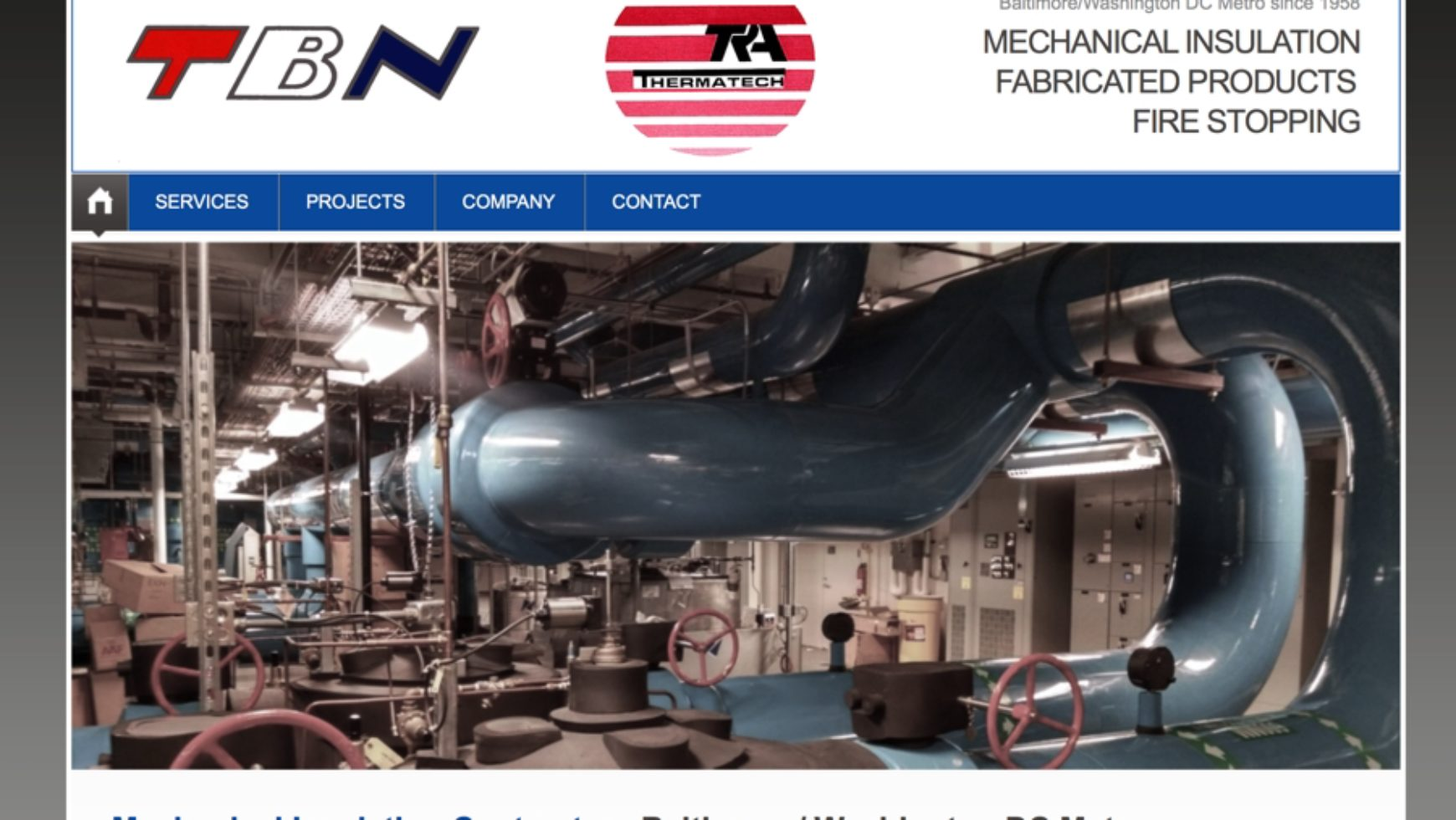 TBN/TRA Thermatech – Fabricated Products Website