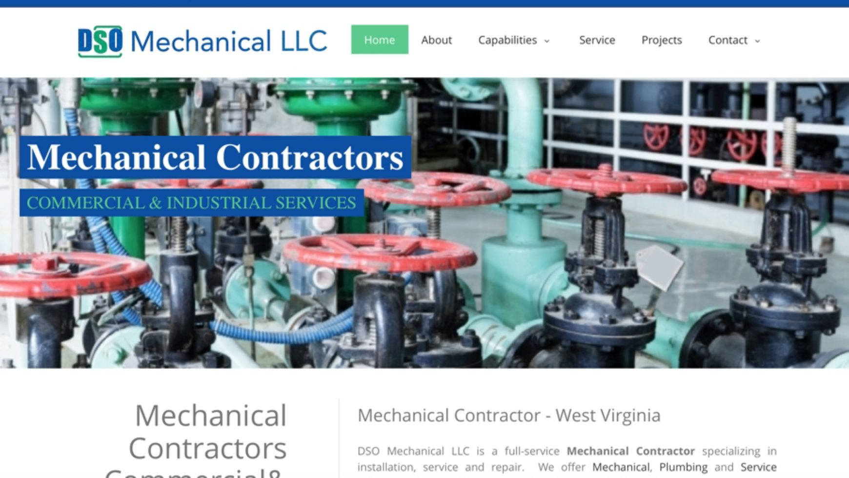 DSO Mechanical – Mechanical Website Design