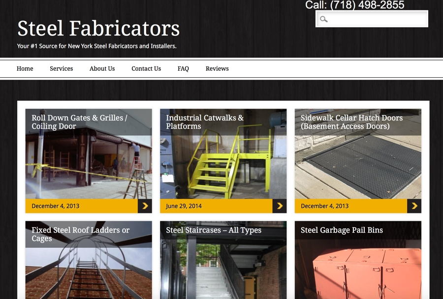 Metal Steel Fabrication Website Design